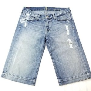 ●Sold● 7 for all Mankind Dojo Distressed  Shorts 2